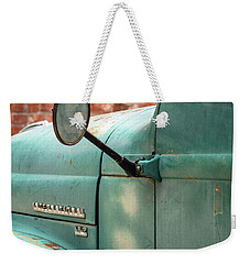 Weekender Tote Bag featuring the photograph International Truck Side View by Heidi Hermes