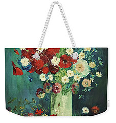 Interpretation Of Van Gogh Still Life With Meadow Flowers And Roses Weekender Tote Bag