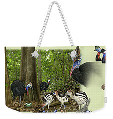 Zoo Nature Interpretation Panel Cassowaries Blue Quandong Weekender Tote Bag