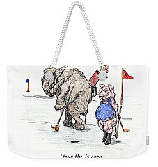 Weekender Tote Bag featuring the painting Interrupting Concentration by Donna Tucker