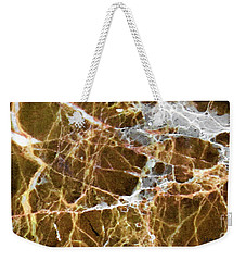 Weekender Tote Bag featuring the digital art Interspace Web by James Fannin