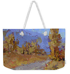 Into Autumn Weekender Tote Bag