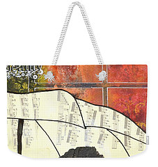 Into Every Life Some Rain Must Fall... Sing Anyway Weekender Tote Bag by Angela L Walker