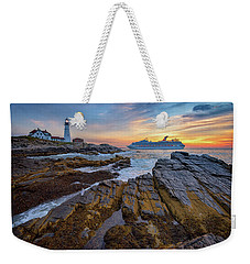 Weekender Tote Bag featuring the photograph Into Portland Harbor by Rick Berk