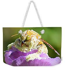 Into Something Good Weekender Tote Bag by AJ Schibig