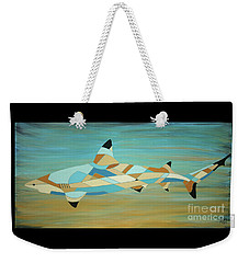 Into The Blue I Shark Painting Weekender Tote Bag