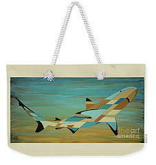 Into The Blue Shark Painting Weekender Tote Bag