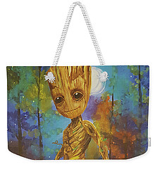 Into The Eyes Of Baby Groot Weekender Tote Bag