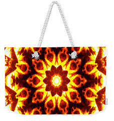Weekender Tote Bag featuring the digital art Into The Fire by Shawna Rowe