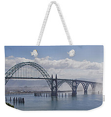 Into The Fog At Newport Weekender Tote Bag
