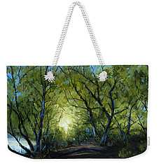 Weekender Tote Bag featuring the painting Into The Light by Billie Colson