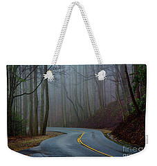 Weekender Tote Bag featuring the photograph Into The Mist by Douglas Stucky