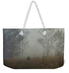 Weekender Tote Bag featuring the digital art Into The Mist by Nicole Wilde