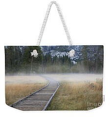 Weekender Tote Bag featuring the photograph Into The Mist by Sandra Bronstein