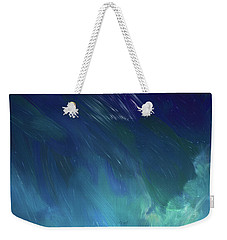 Weekender Tote Bag featuring the digital art Into The Night by Karen Nicholson