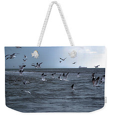 Weekender Tote Bag featuring the photograph Into The Storm by Melissa Lane