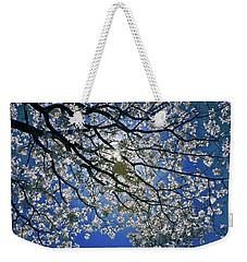 Weekender Tote Bag featuring the photograph Into The Sun by Linda Unger