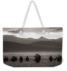 Into The Sunset - Bw Weekender Tote Bag