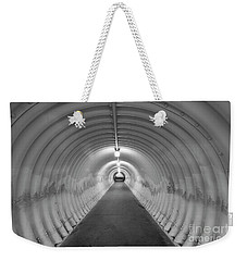 Weekender Tote Bag featuring the photograph Into The Tunnel by Juli Scalzi