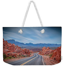 Into The Valley Of Fire Weekender Tote Bag by Mark Dunton