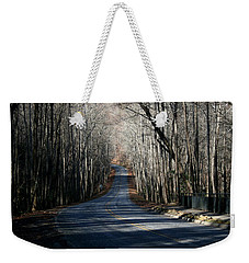 Into The Woods Weekender Tote Bag by Cathy Harper