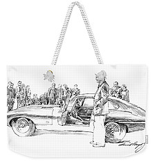 Introducing The 1962 Jag E-type Coupe Weekender Tote Bag