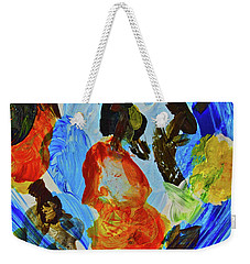 Weekender Tote Bag featuring the painting Intuitive Painting  215 by Joan Reese