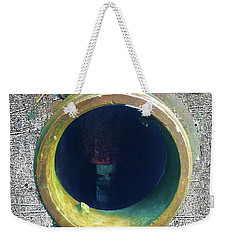 Weekender Tote Bag featuring the mixed media Inturupted by Tony Rubino