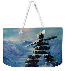 Inukshuk My Northern Compass Weekender Tote Bag