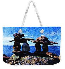 Inukshuk Weekender Tote Bag by Zinvolle Art