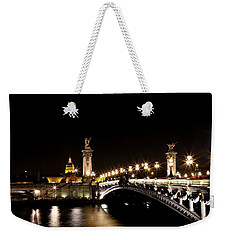 Weekender Tote Bag featuring the photograph Invalides At Night 1 by Andrew Fare