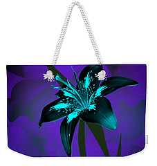 Inverse Lily Weekender Tote Bag by Judy Johnson