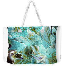 Inverted Leaves Throw Pillow Weekender Tote Bag by Gayle Price Thomas