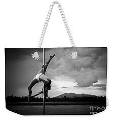 Inverted Splits Pole Dance Weekender Tote Bag