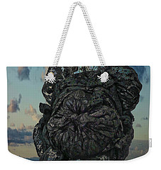 Weekender Tote Bag featuring the photograph Invisable Lady by Joan Reese