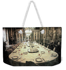 Invitation To Dinner At The Castle... Weekender Tote Bag