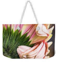 Weekender Tote Bag featuring the photograph Inward Pleasure by Jessica Manelis