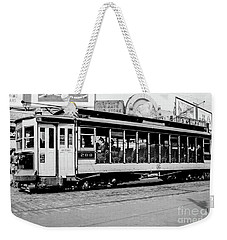 Weekender Tote Bag featuring the photograph Inwood Crosstown Trolley  by Cole Thompson