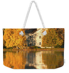 Iola Mill Fall Reflection Weekender Tote Bag by Trey Foerster