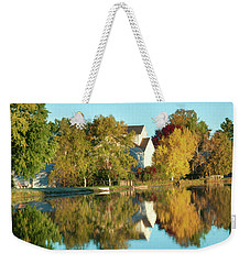 Iola Mill Fall View Weekender Tote Bag