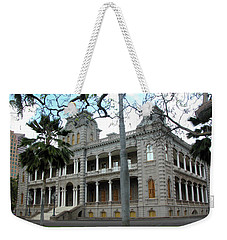 Weekender Tote Bag featuring the photograph Iolani Palace, Honolulu, Hawaii by Mark Czerniec