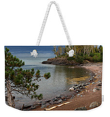 Weekender Tote Bag featuring the photograph Iona's Beach by James Peterson