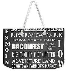 Iowa Famous Landmarks Weekender Tote Bag