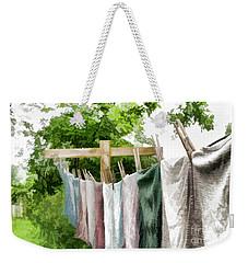 Iowa Farm Laundry Day  Weekender Tote Bag by Wilma Birdwell