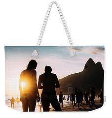 Ipanema, Rio De Janeiro, Brazil At Sunset Weekender Tote Bag
