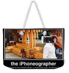 iPhone Face Weekender Tote Bag by Teo SITCHET-KANDA