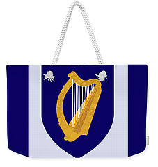 Weekender Tote Bag featuring the drawing Ireland Coat Of Arms by Movie Poster Prints