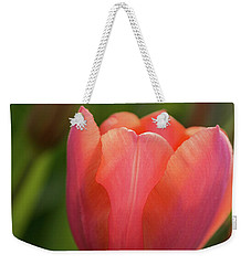 Weekender Tote Bag featuring the photograph Iridescent Tulip by Mary Jo Allen