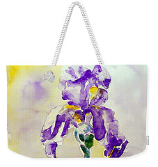 Weekender Tote Bag featuring the painting Iris 2 by Jasna Dragun