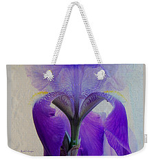 Iris And Ice Weekender Tote Bag